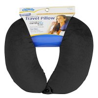 Cloudz Microbead Travel Neck Pillow - Black - Walmart.com