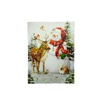 LED Lighted Vintage Inspired Snowman and Reindeer ...