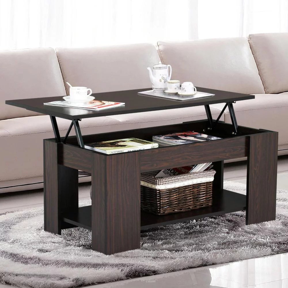 Modern Lounge Room Furniture Yaheetech Lift Up Top Coffee Table With Under Storage Shelf Modern Living Room Furniture Espresso