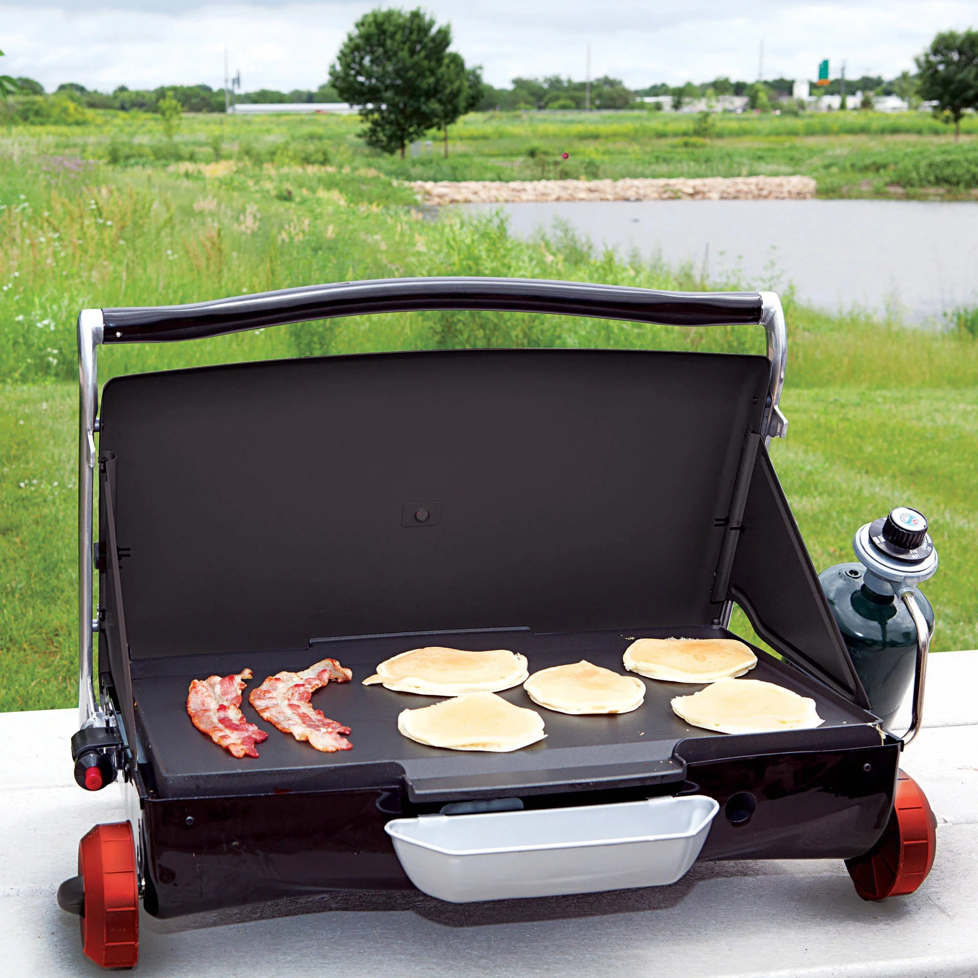 Grill Camping George Foreman Camp And Tailgate Portable Gas Grill