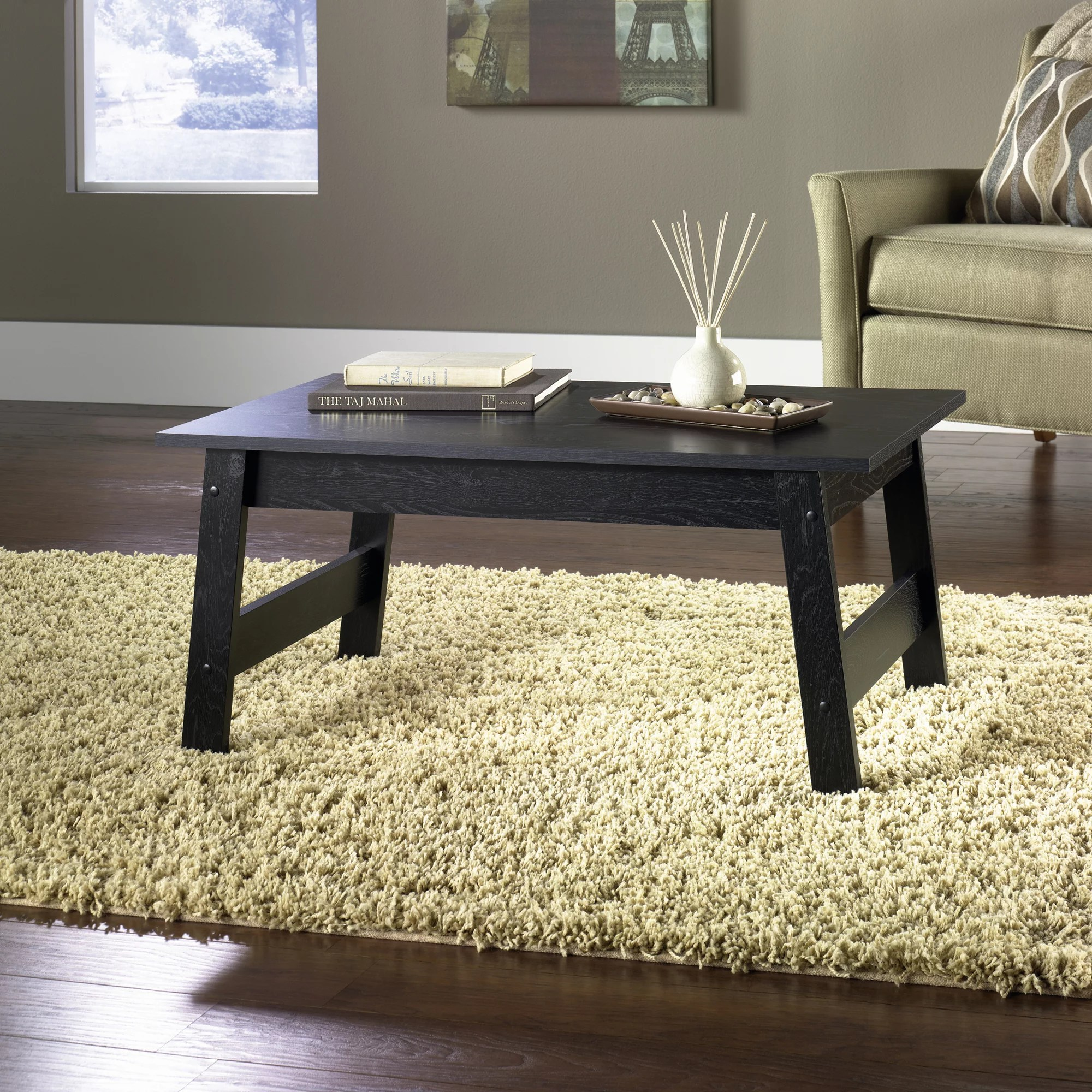 Couchtisch Montain Oak Mainstays Coffee Table Black Oak Finish
