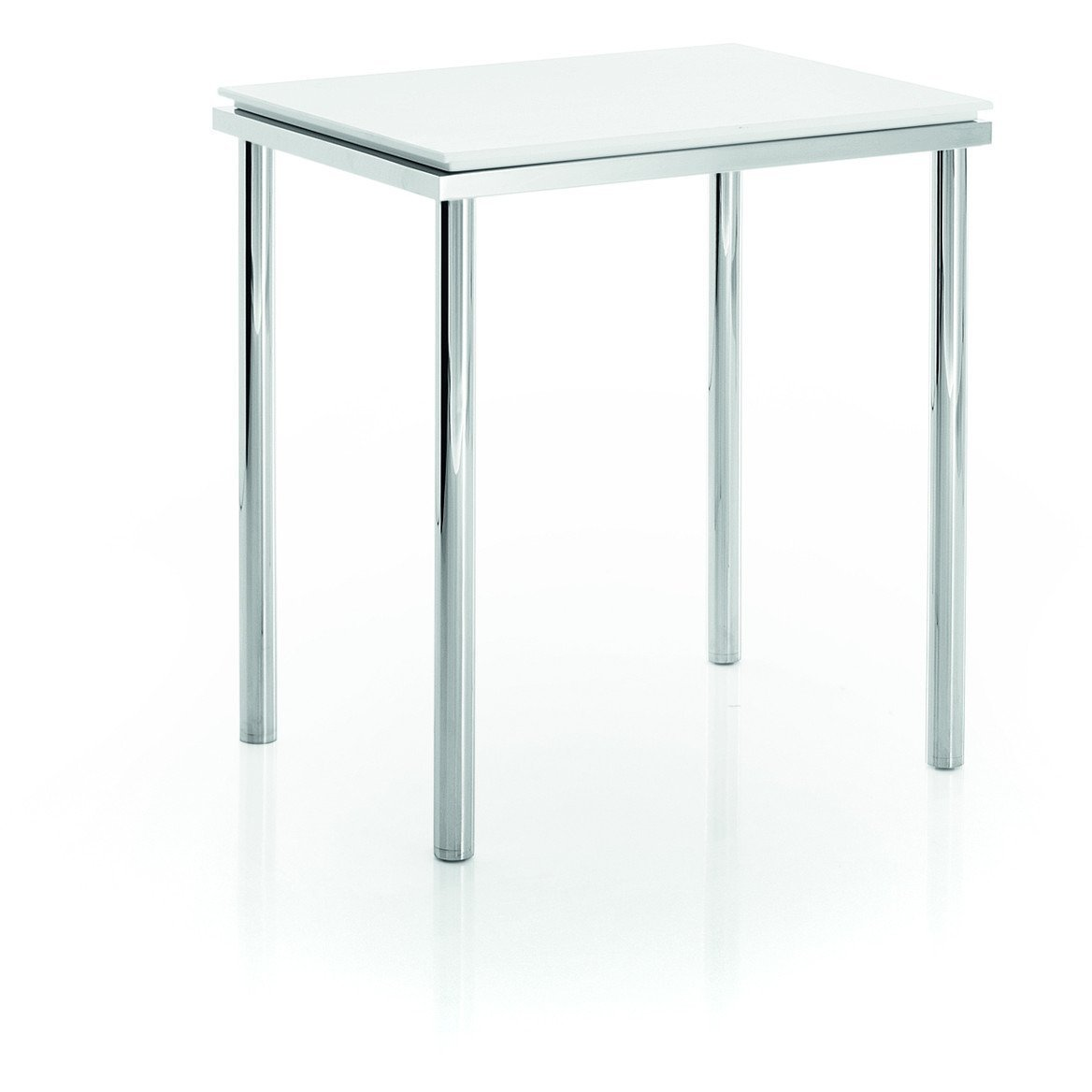 Vanity Stool Chrome Lb Backless Vanity Stool Bench Bedroom With Chrome Legs Mattstone Seat