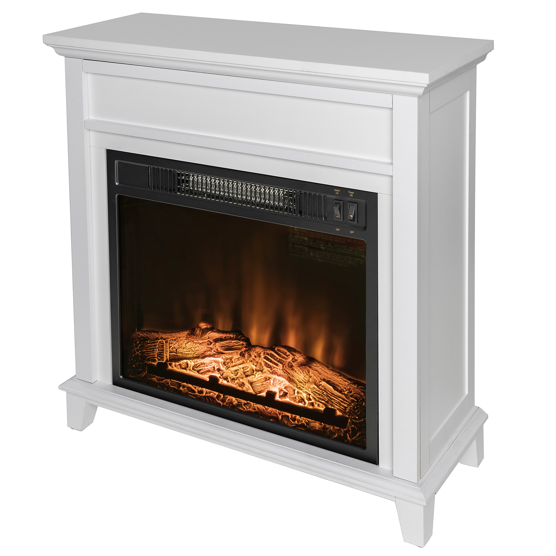 Akdy Fp0094 27quot Electric Fireplace Freestanding White