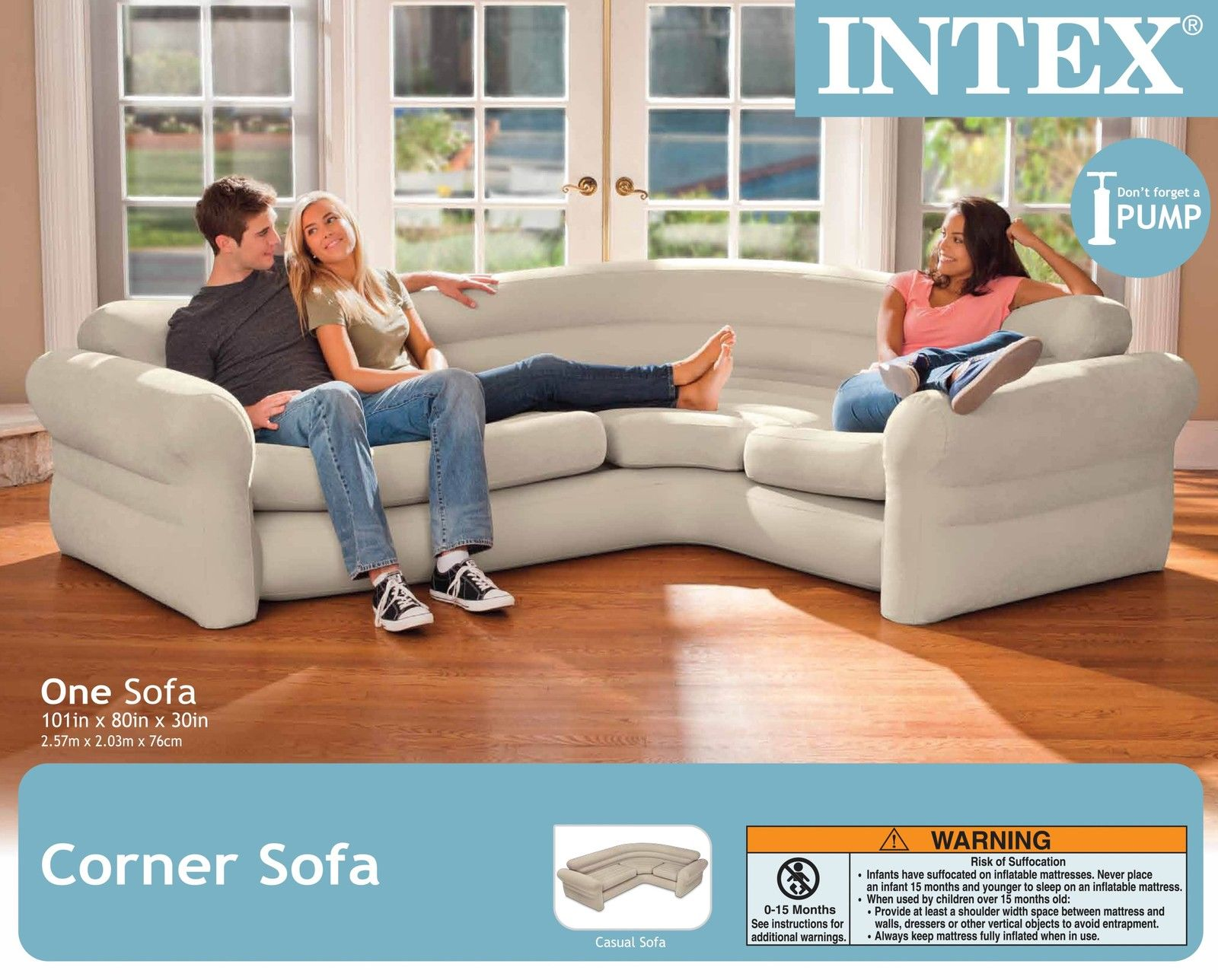 Big Inflatable Couch Intex Inflatable Corner Couch