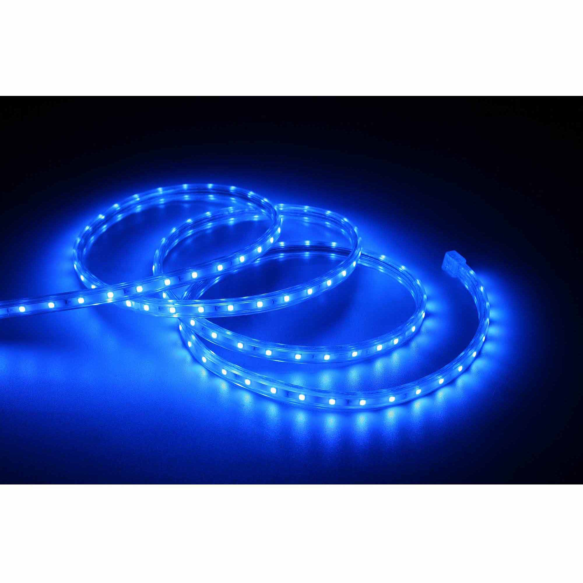 Led Lights At Walmart Holiday Time 19 6 Led Blue Rope Light 240 Count