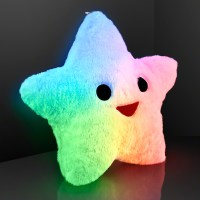 FlashingBlinkyLights Happy Star Light Up Pillows With Auto ...