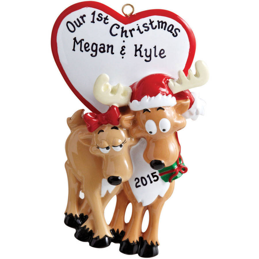 Personalized couples christmas ornaments cute
