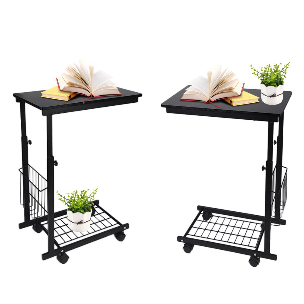 Storage Table On Wheels Lv Life Height Adjustable Desk With Detachable Wheels Sofa Side Table Side Tables With Storage Bedside Tables For Small Spaces Laptop Table
