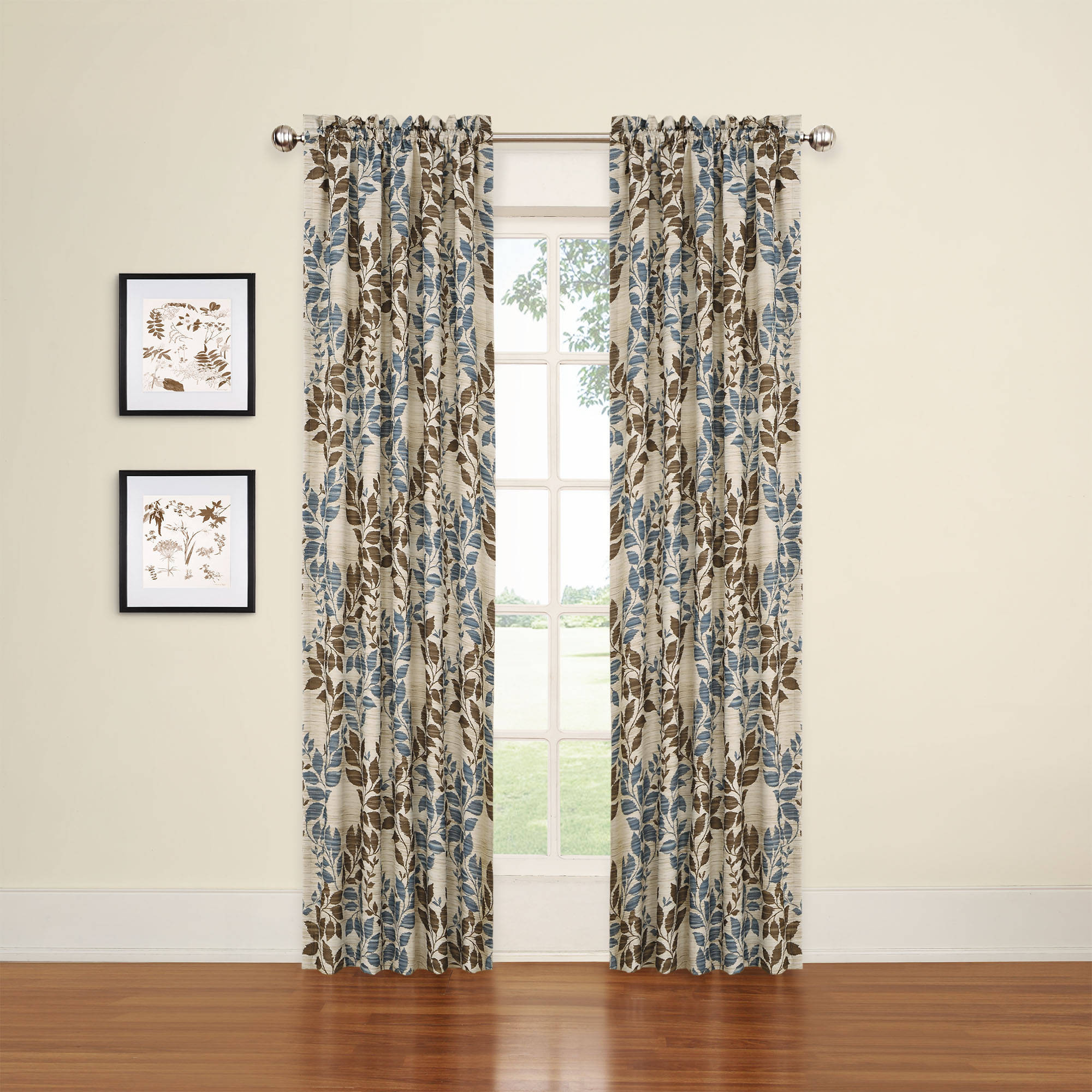94 Inch Blackout Curtains Eclipse Arbor Blackout Window Curtain Panel