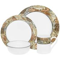 Corelle Impressions Woodland Leaves 16-Piece Dinnerware ...