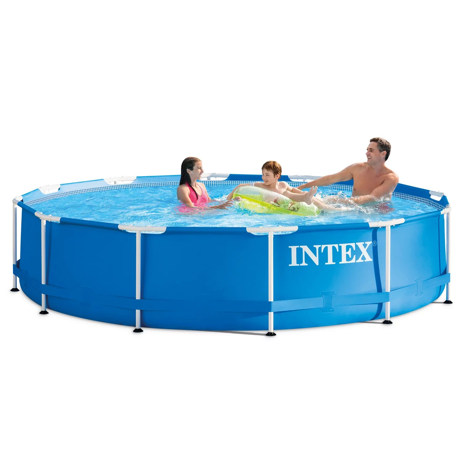 Pool Mit Filterpumpe Intex 12 X 30 Metal Frame Above Ground Swimming Pool With