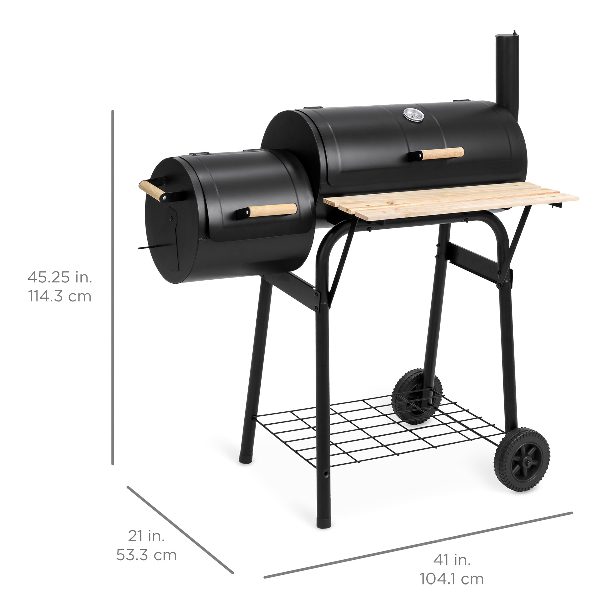 Outdoor Grill Best Choice Products Outdoor 2 In 1 Charcoal Bbq Grill Meat Smoker For Home Backyard W Temperature Gauge Metal Grates Black