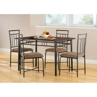 Mainstays 5-Piece Wood and Metal Dining Set - Walmart.com