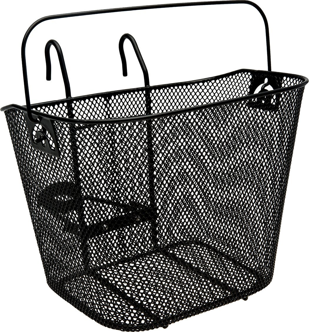 Bike Basket Big W Tote 510 Front Basket With Handle Black Large Storage Capacity Folding Carrying Handle By Bell