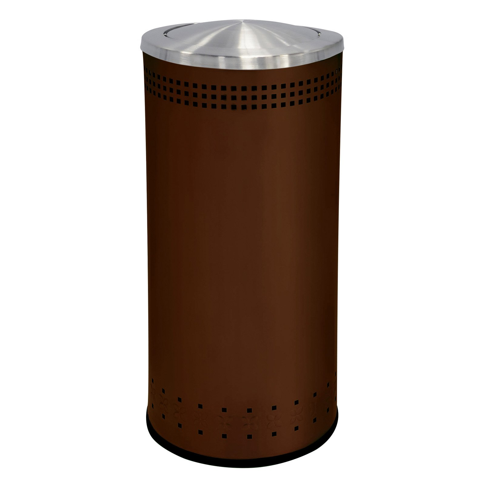Copper Trash Can With Lid Commercial Zone 25 Gallon Swivel Lid Trash Can With Stainless Steel Lid