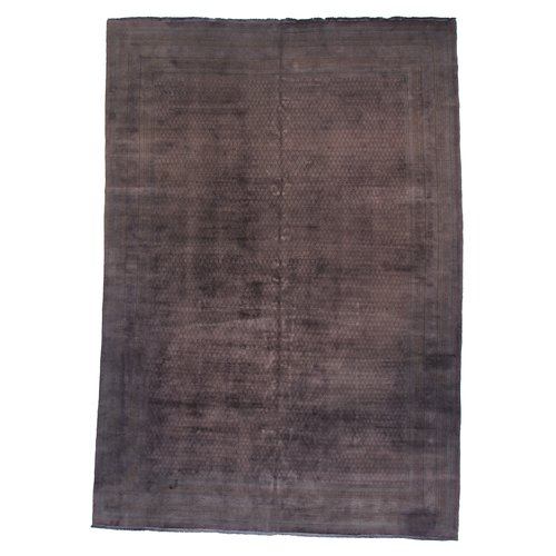 17 Stories Tess Hand Knotted Wool Aubergine Area Rug