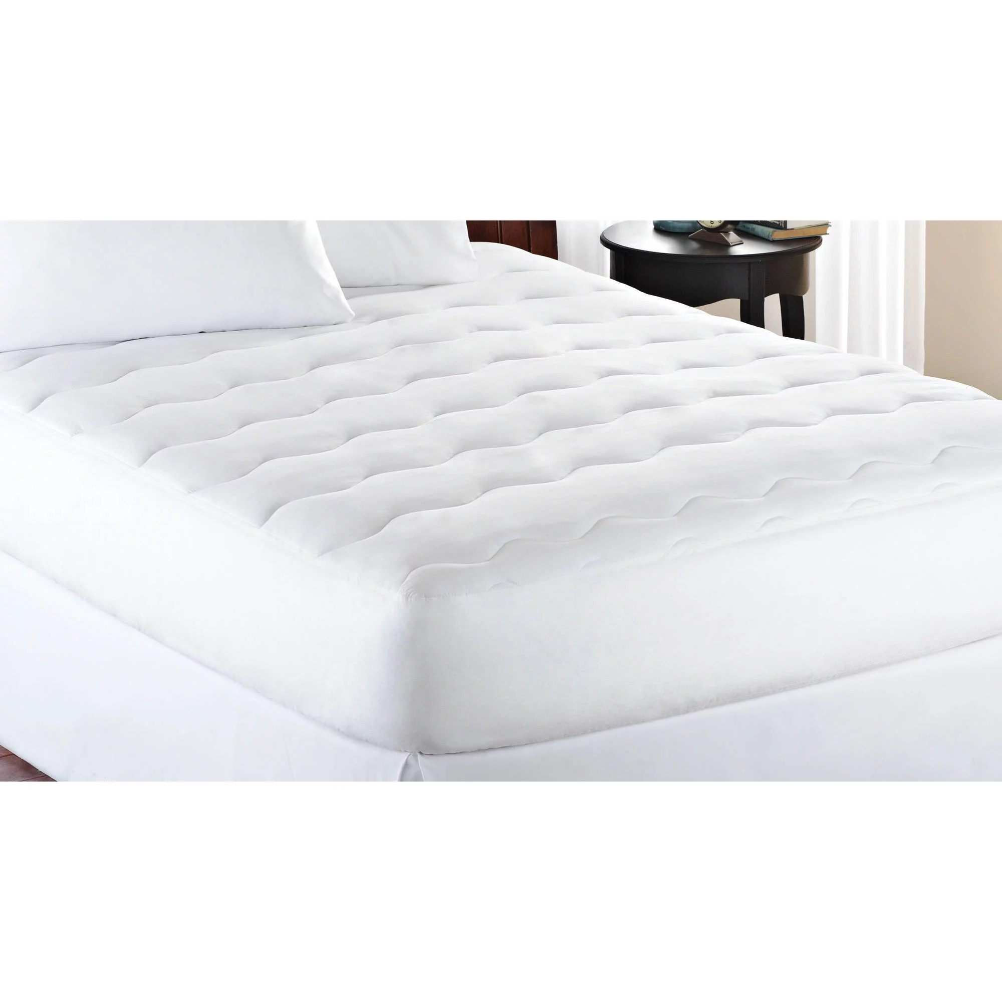 Double Bed Mattress Cover Mainstays 10 Ounce Fill Extra Thick Mattress Pad 1 Each