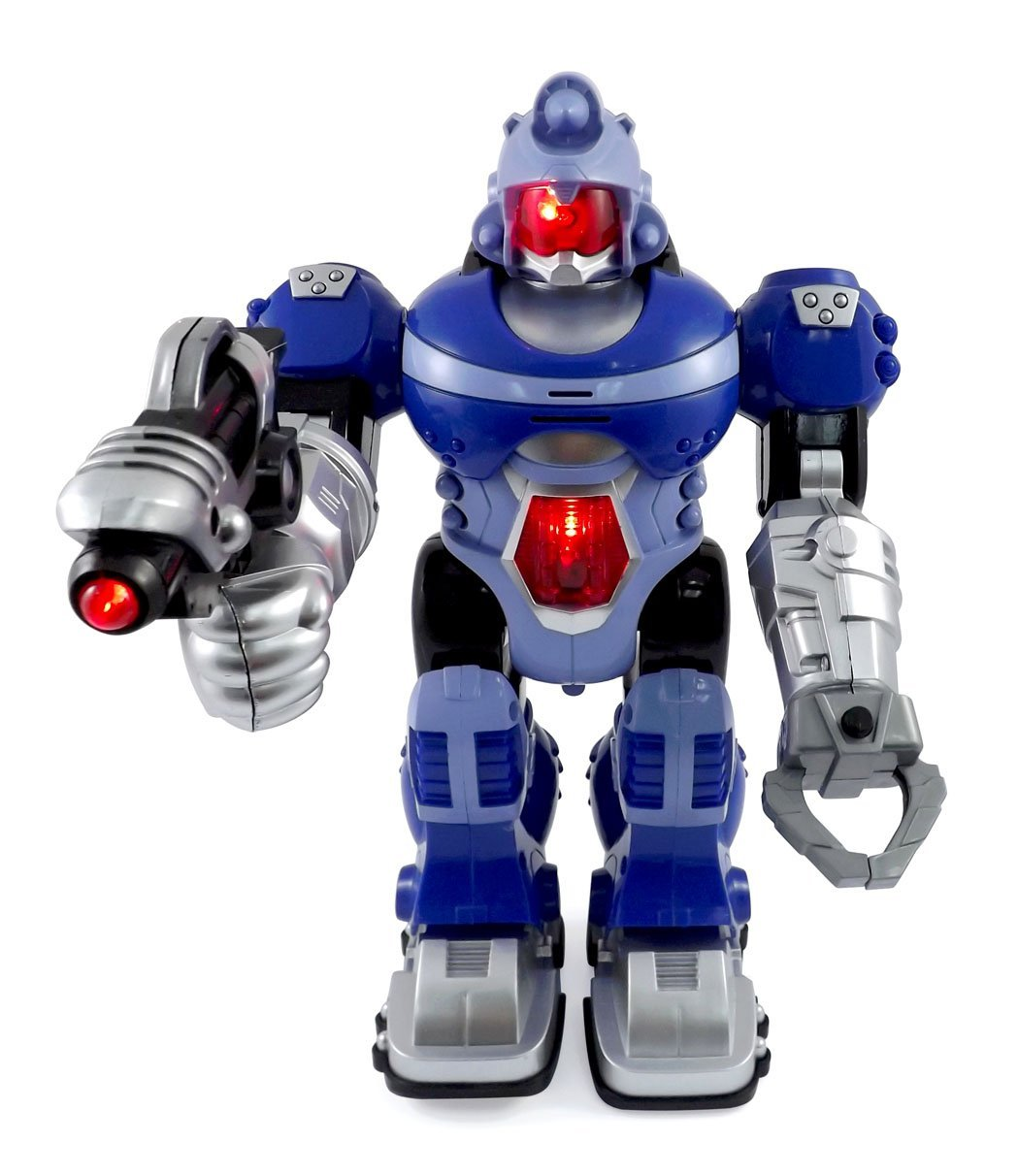Children Robot Super Android Robot Toy For Kids With Space Blaster Grip Claw Hand Lights Sound Space Ranger Toy Robot Action Figure For Children Marching Toy