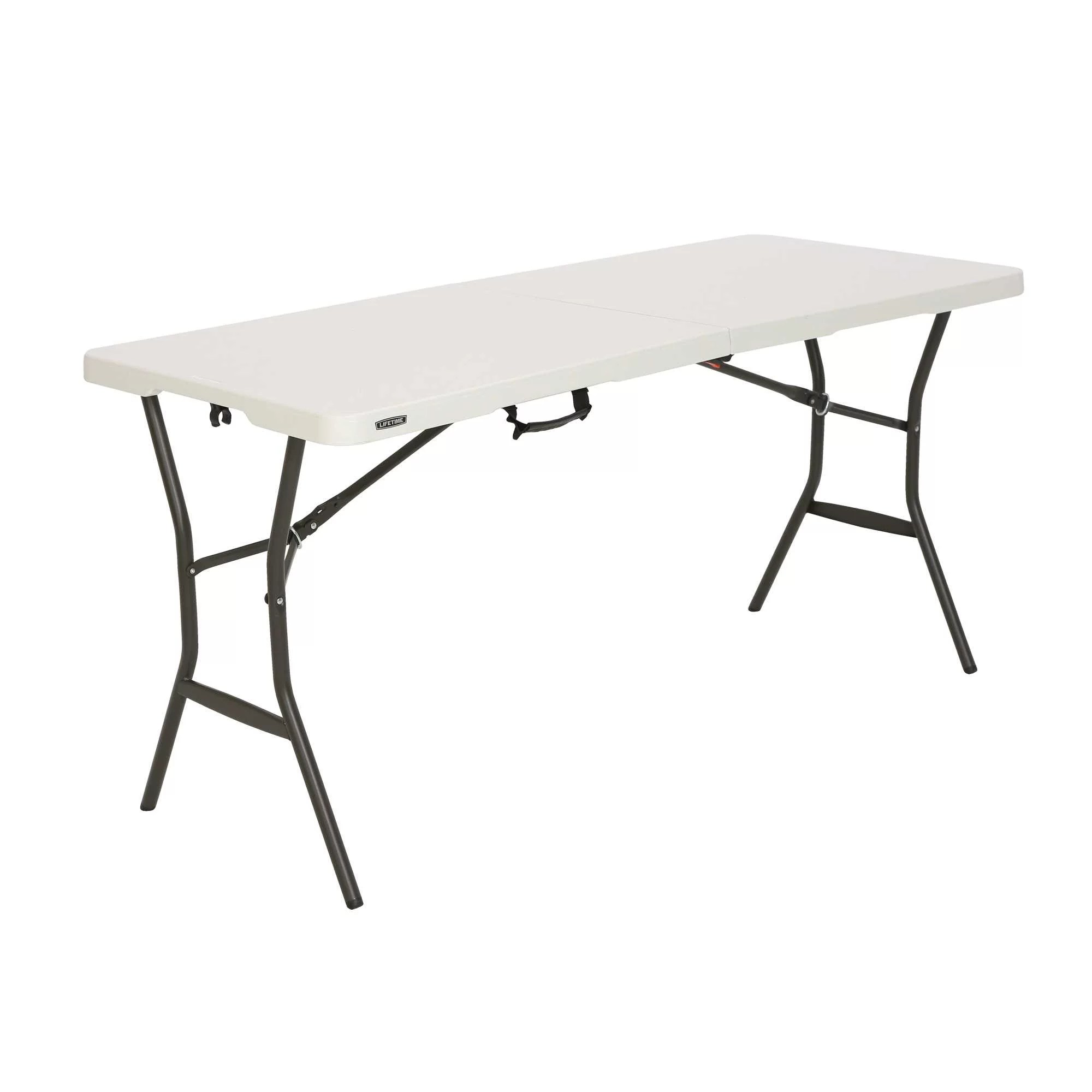 Folding Card Table Canada Lifetime 5 Essential Fold In Half Table Pearl 280513