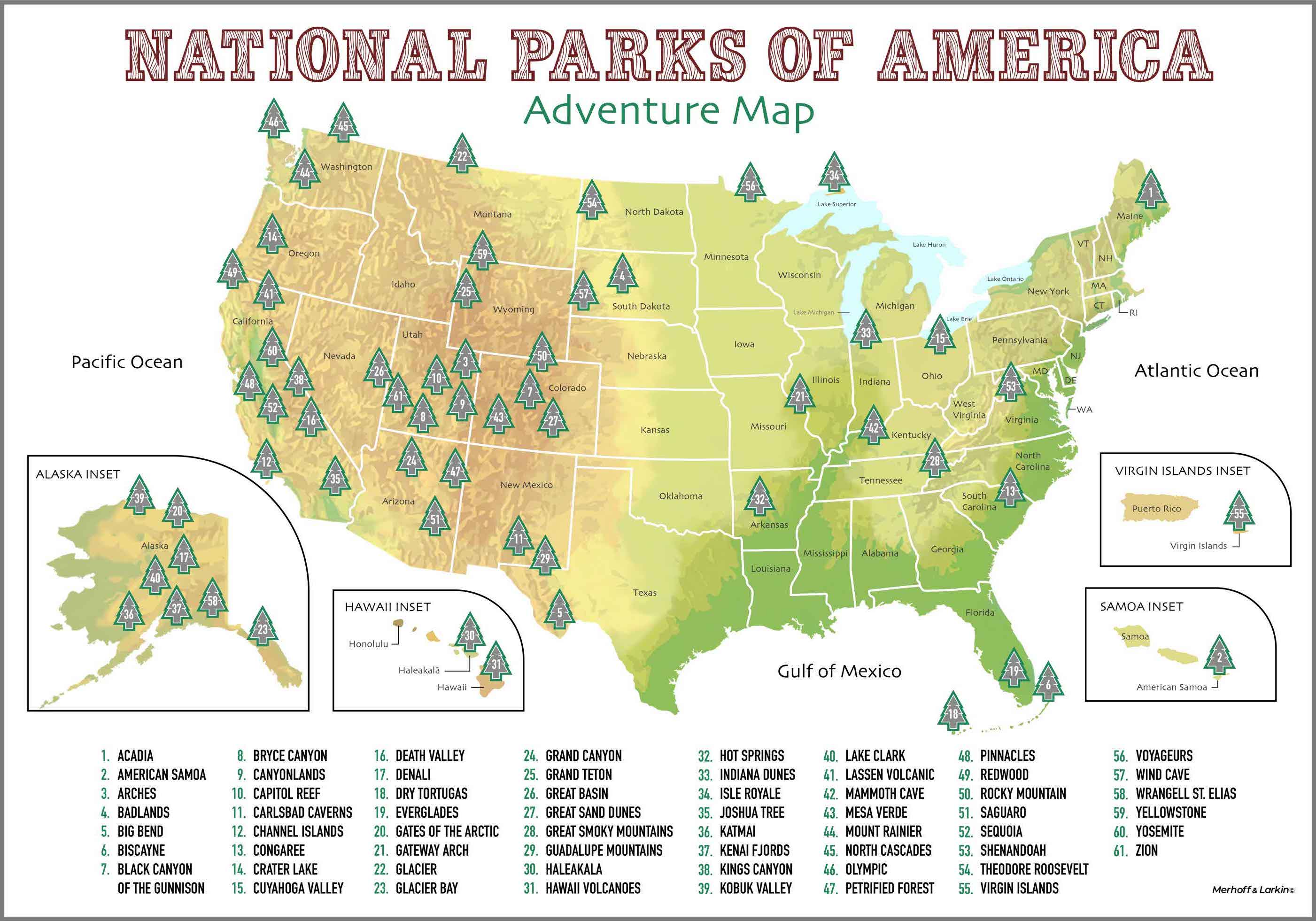 Wall Décor 16 X 20 Us National Parks Scratch Off Poster Posters Prints