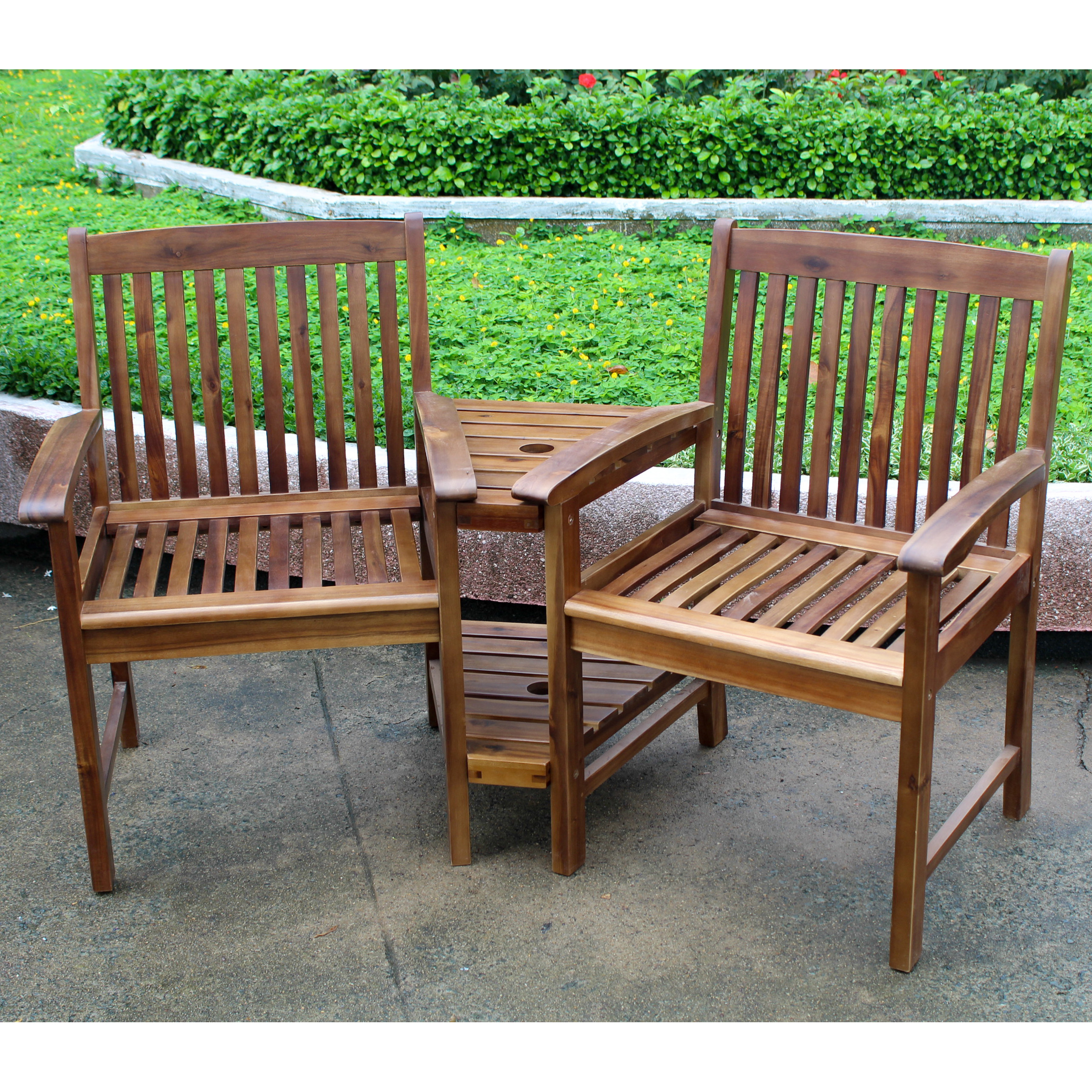 Highland Conversation Double Chair And Table Walmartcom
