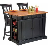 Home Styles Traditions Kitchen Island with 2 Deluxe Bar ...