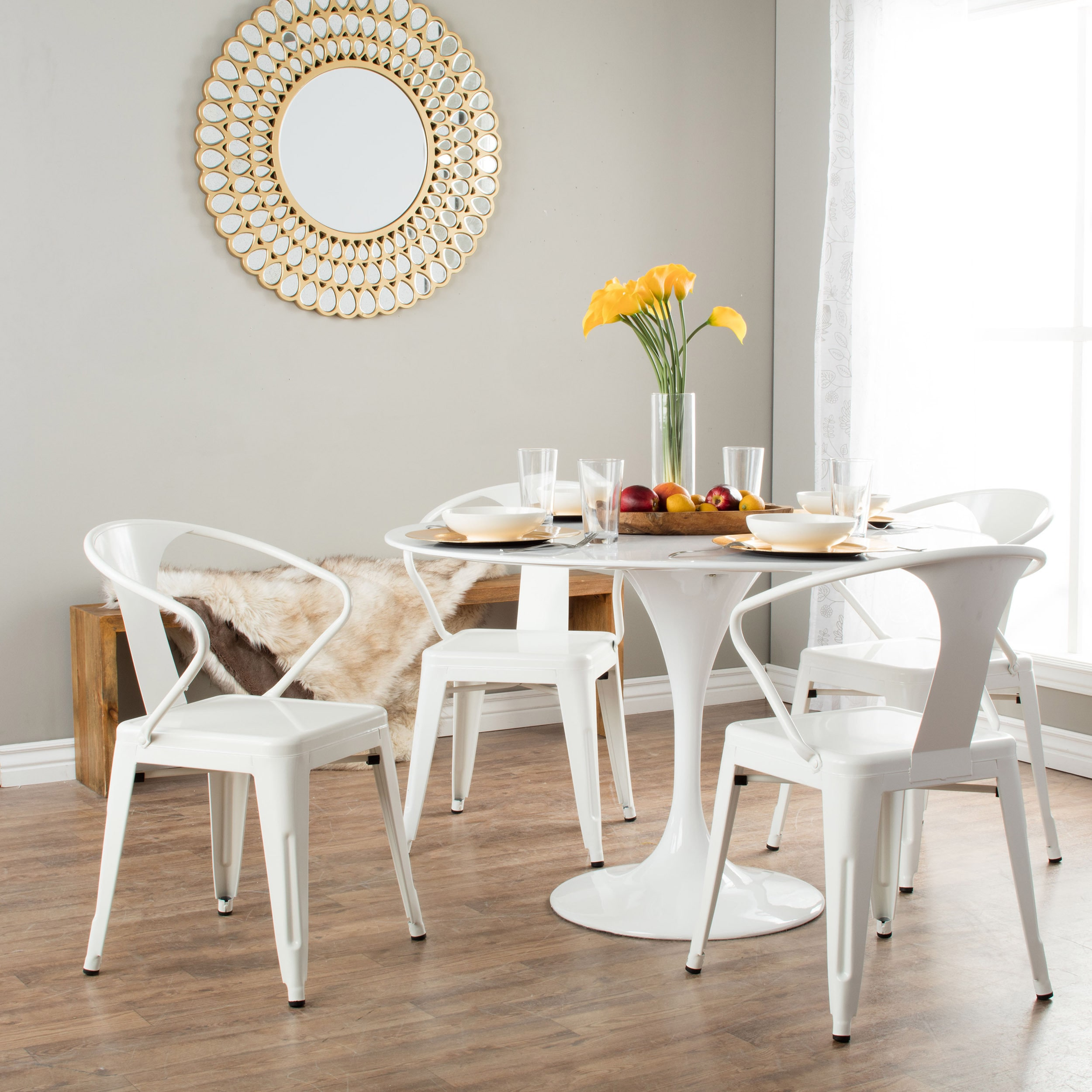 Tabourets Walmart I Love Living White Tabouret Stacking Chairs Set Of 4 Walmart