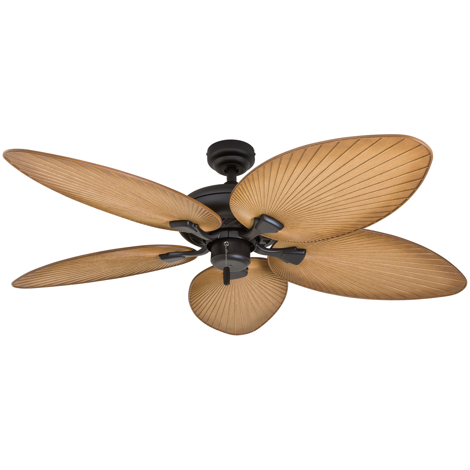Leaf Style Ceiling Fans Honeywell Palm Valley 52 Quot Bronze Tropical Ceiling Fan With