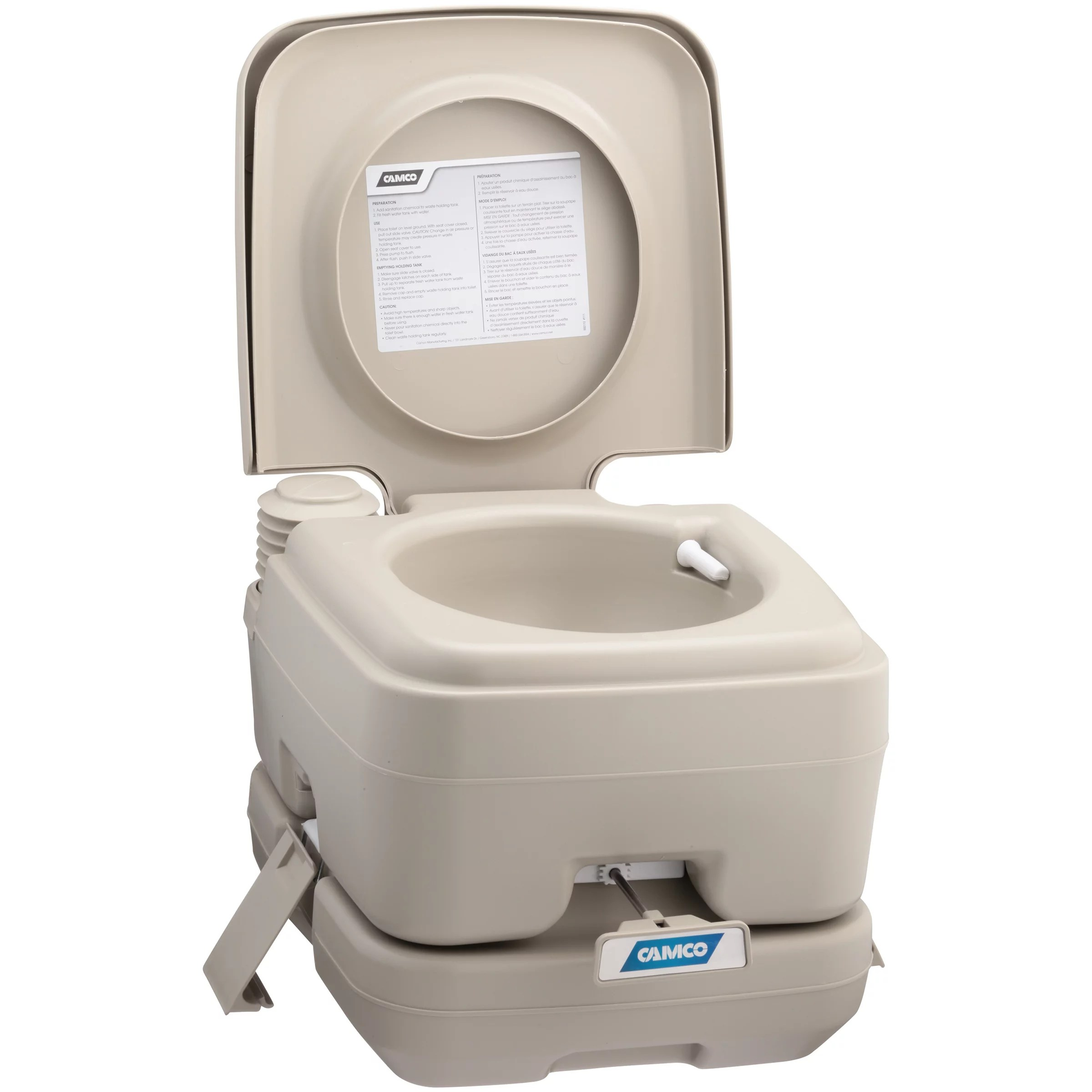 Camping Toilet Camco Portable Toilet With Rv Toilet Treatment Drop Ins