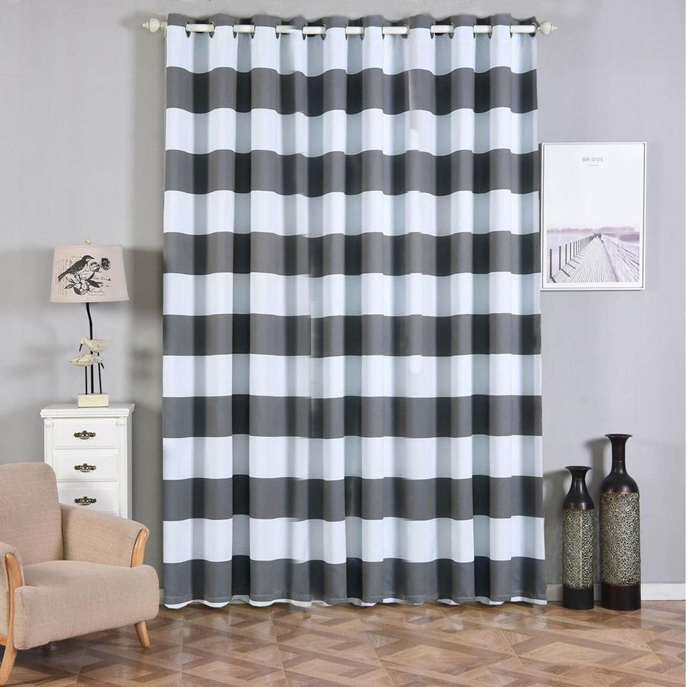 Curtains Blinds 2 Stripe Thermal Insulated Blackout Curtains And Grommet Window Treatment 52x84 Home Furniture Diy Breadcrumbs Ie