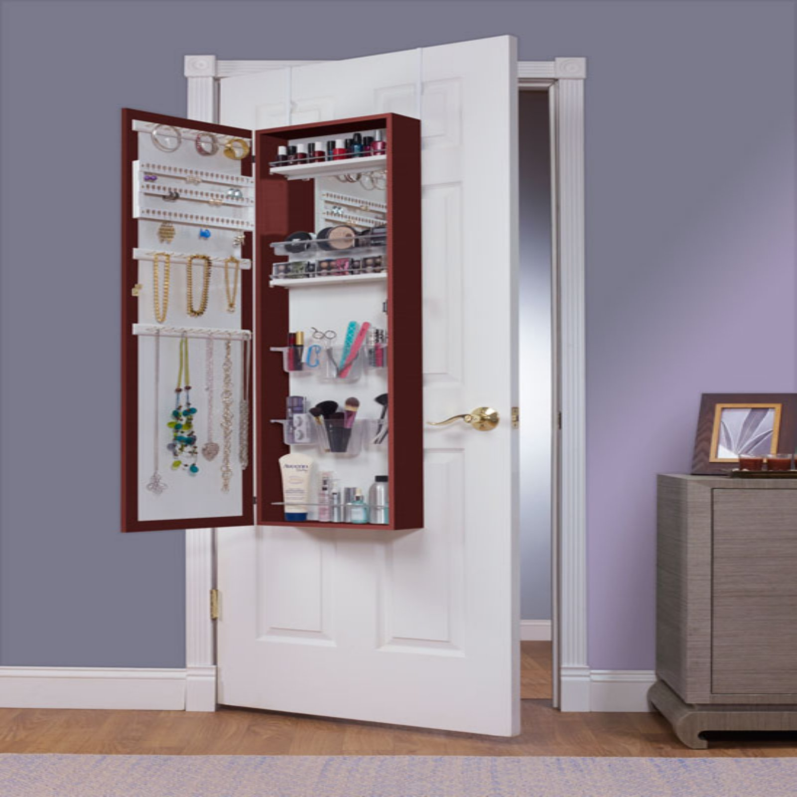 Armoire Habits Mirrotek Over The Door Jewelry And Makeup Armoire