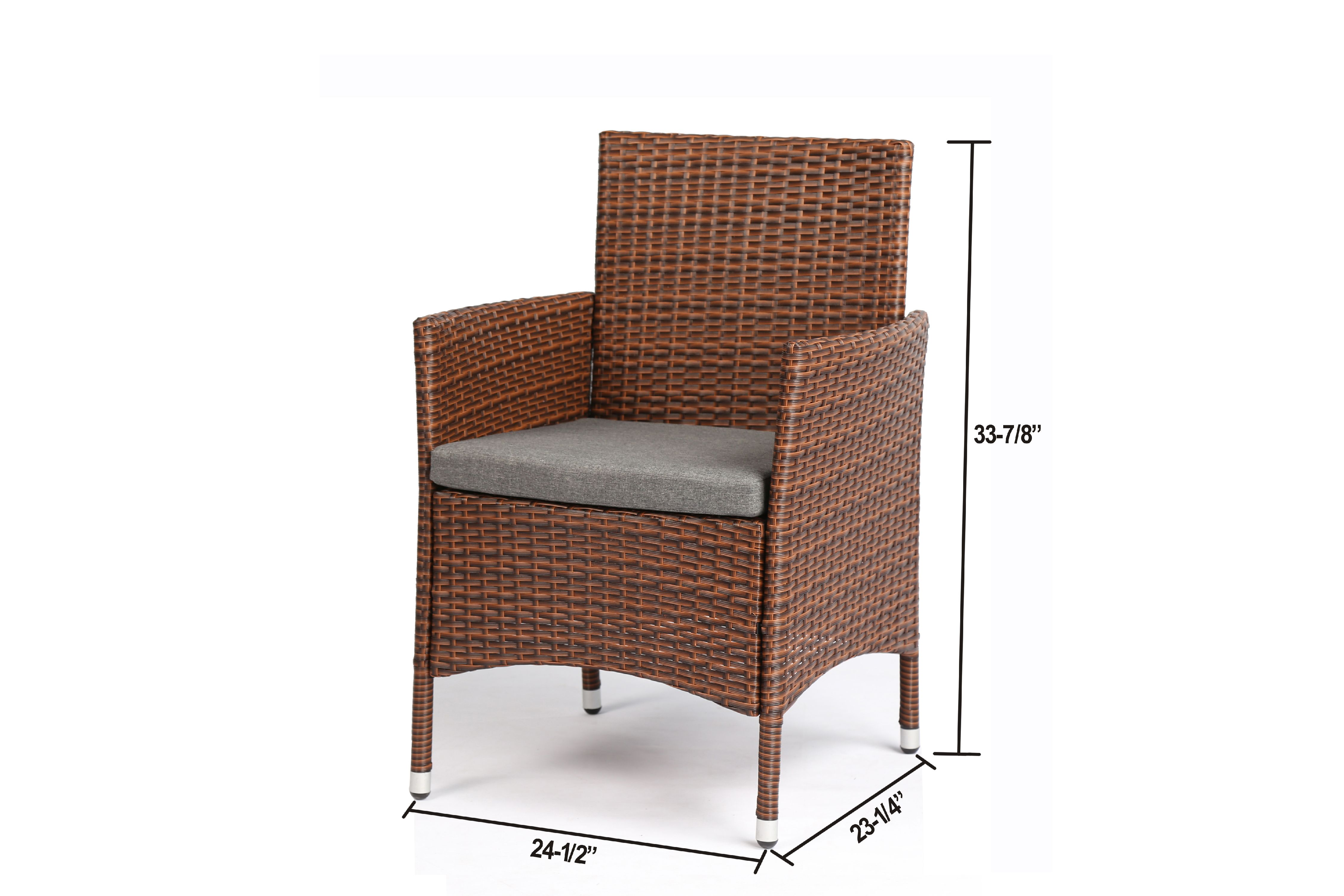 Rattan Rollo Baner Garden 8 Pieces Outdoor Furniture Complete Patio Wicker Rattan Garden Set Brown N68 Br 2