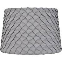 Better Homes and Gardens Gray Pleated Round Hardback Shade ...