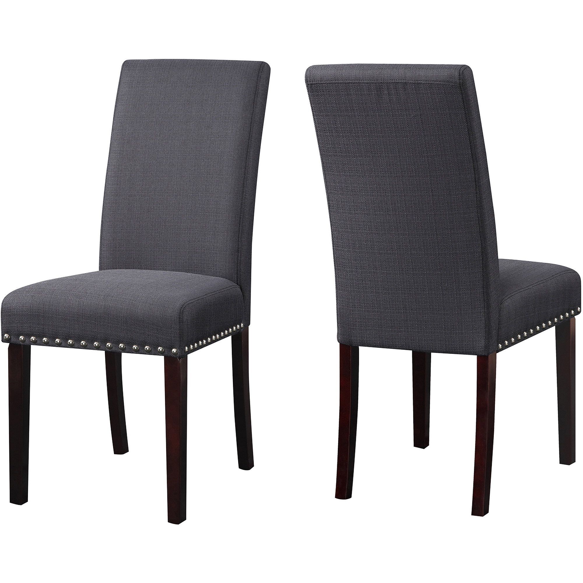 Dhi nice nail head upholstered dining chair set of 2 multiple colors walmart com