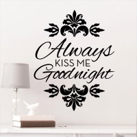 DCWV Vinyl Always Kiss Me Good Night Wall Decal