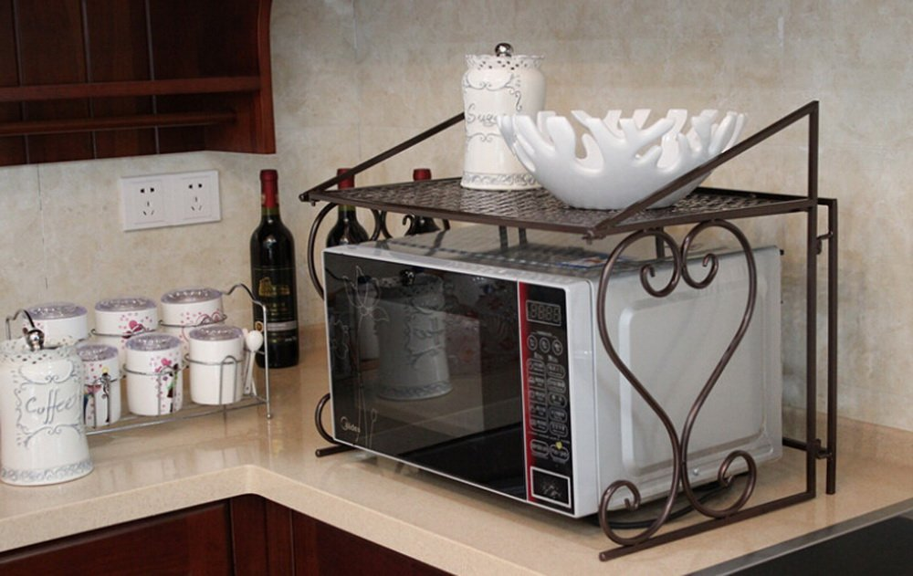 Dazone Metal Microwave Oven Shelf Kitchen Counter And