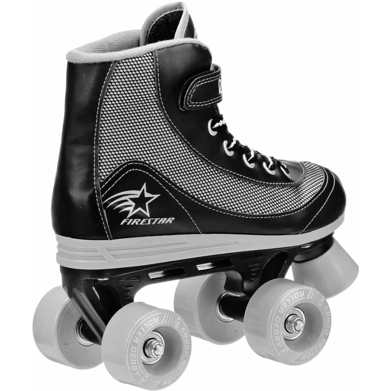 Roller derby girls firestar quad roller skates pink white walmart com