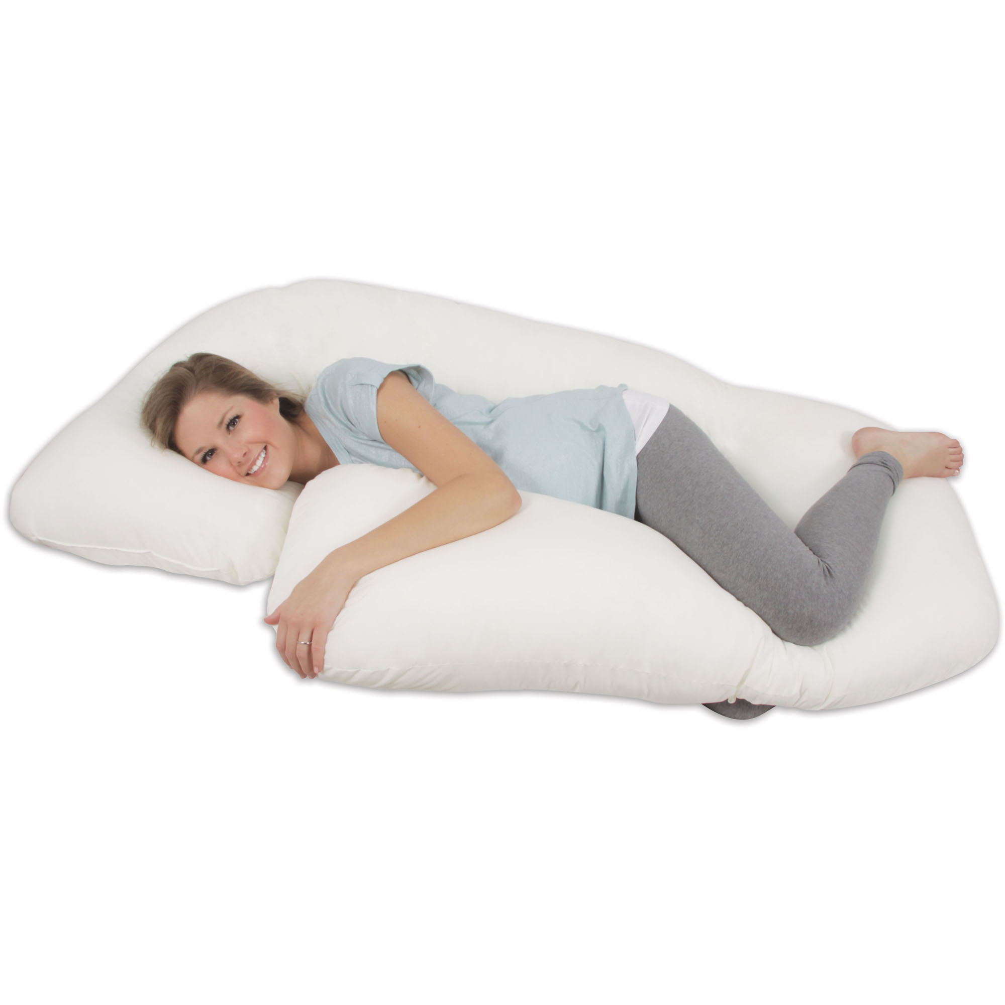 Leachco Snoogle Total Body Pillow Leachco All Nighter Total Body Pillow Ivory Walmart