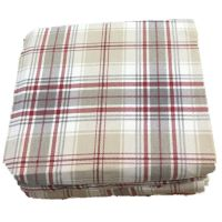 Cuddle Duds Tan & Red Plaid Flannel Sheet Set Queen Bed ...