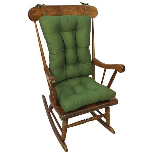 Gripper Jumbo Rocking Chair Cushions Twill Walmartcom