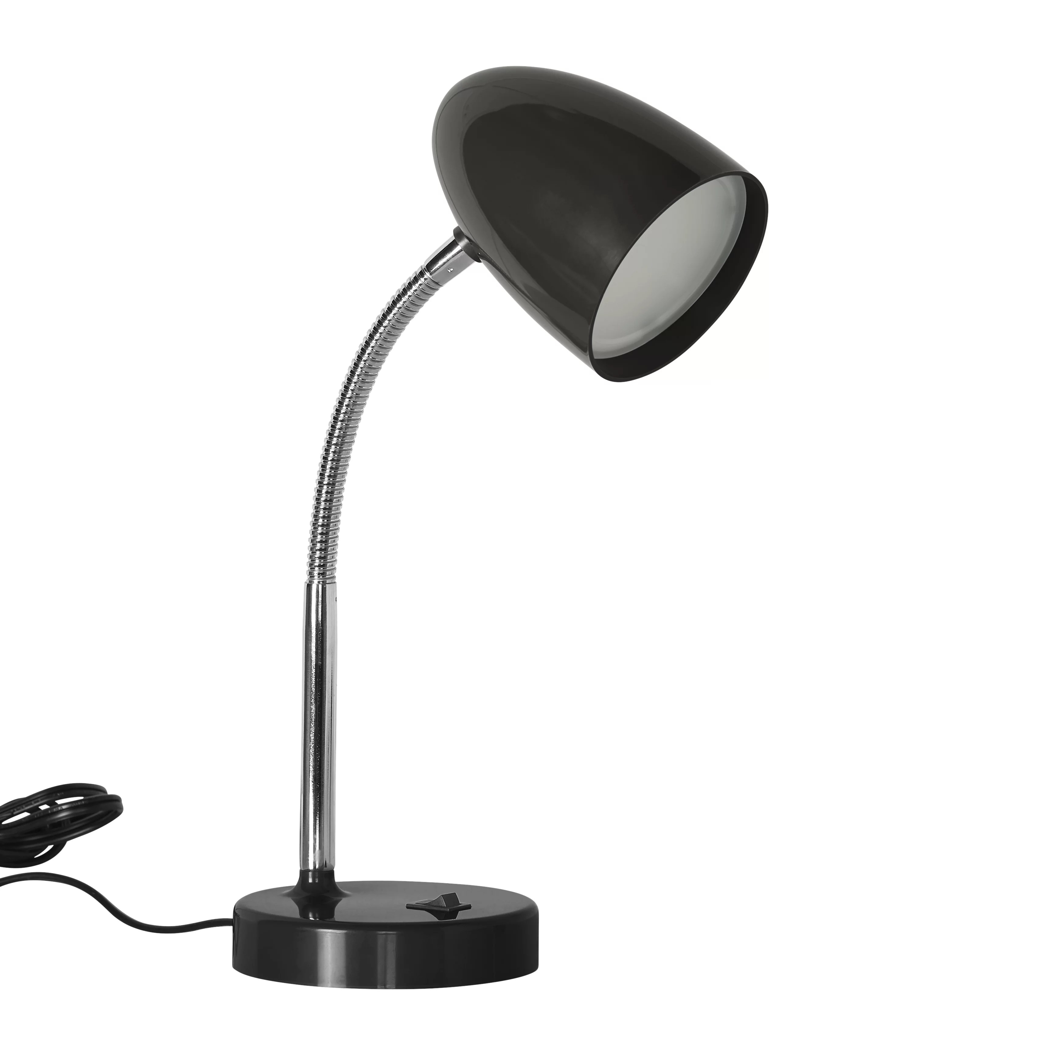 Desk Lamp Mainstays 3 5 Watt Led Desk Lamp Flexible Gooseneck Gold