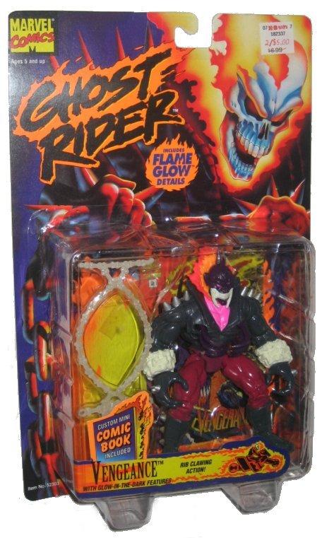 Ghost Rider Vengeance Toybiz Action Figure W Flame Glow