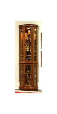 Edwardian II Corner Curio Cabinet - Walmart.com