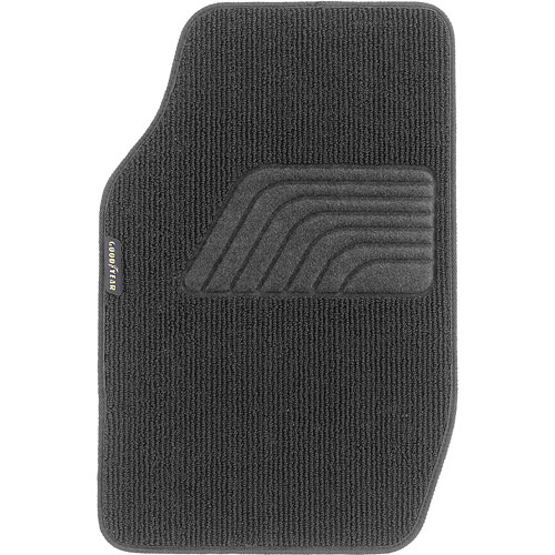 Goodyear 4pc Premium Carpet Floor Mats Black Walmartcom