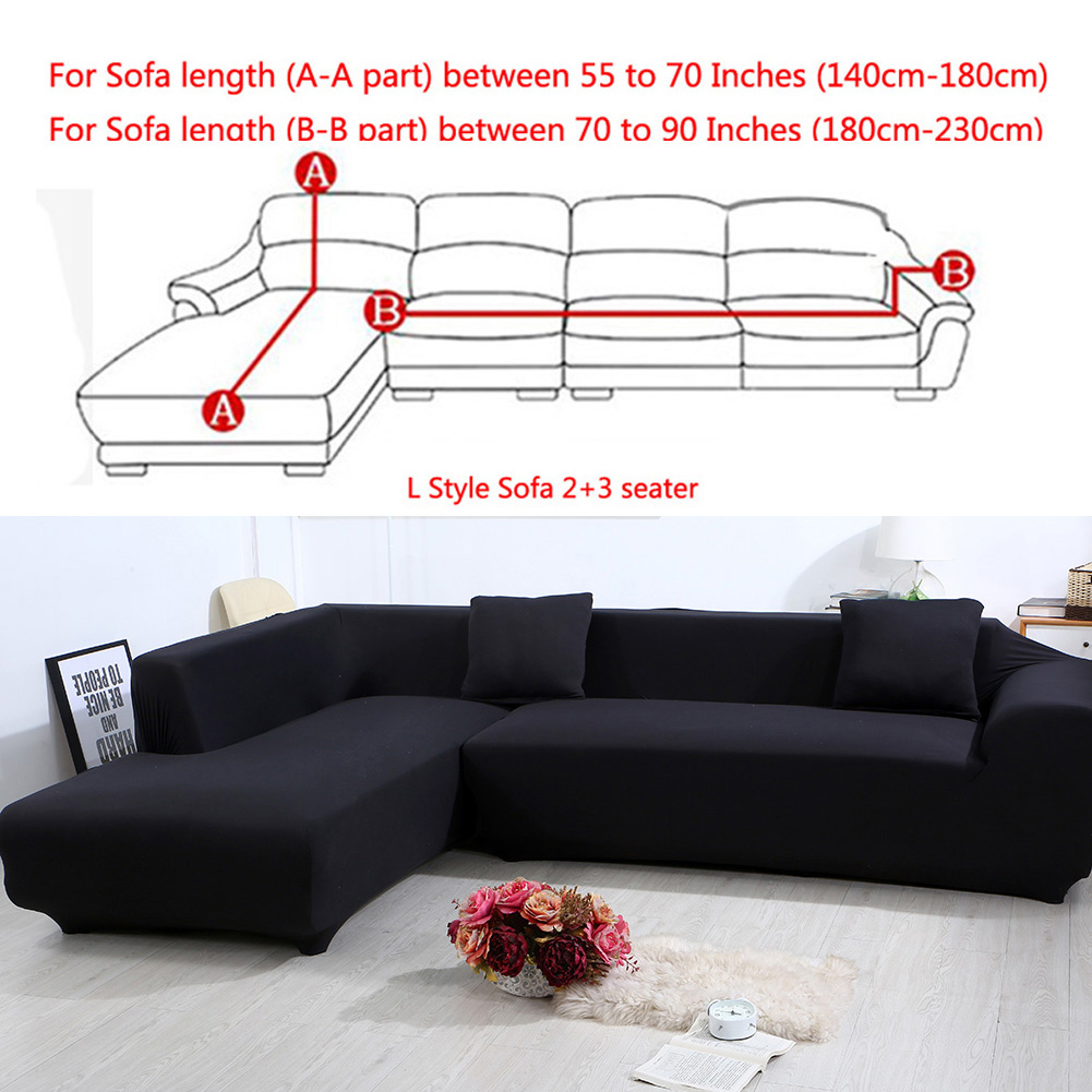 All Cover Sectional Sofa L Shape 2pcs Slipcover Elastic Washable Couch Cover 2seater 55 To 74inch 3 Seater 74 To 90 Inch Sofa Slipcover Couch Cover Stretch For L Shape Sectional Corner Walmart Com