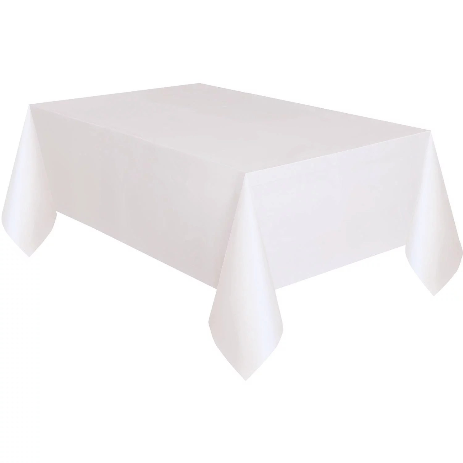 Kunststoff Tischdecke White Plastic Party Tablecloth, 108 X 54in - Walmart.com
