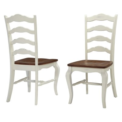 Home Styles French Countryside 2-Piece Oak Dining Chair Set, Off White - Walmart.com