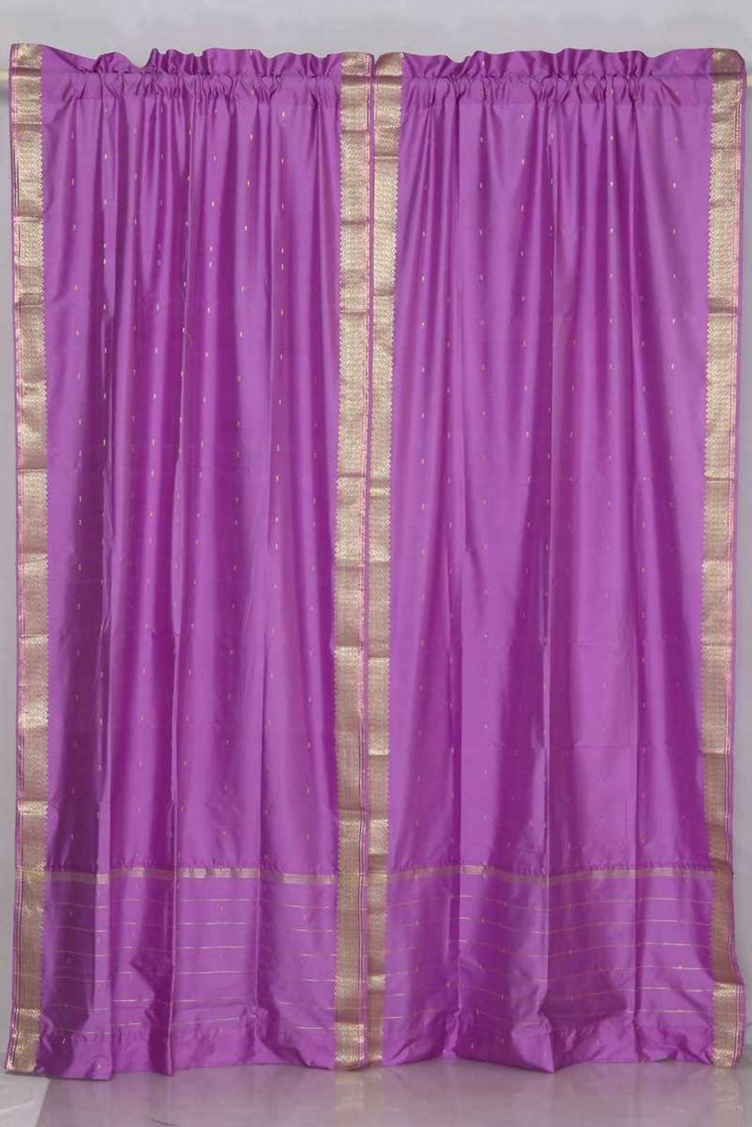 Lavender Sheer Curtains Lavender Rod Pocket Sheer Sari Curtain Drape Panel Pair