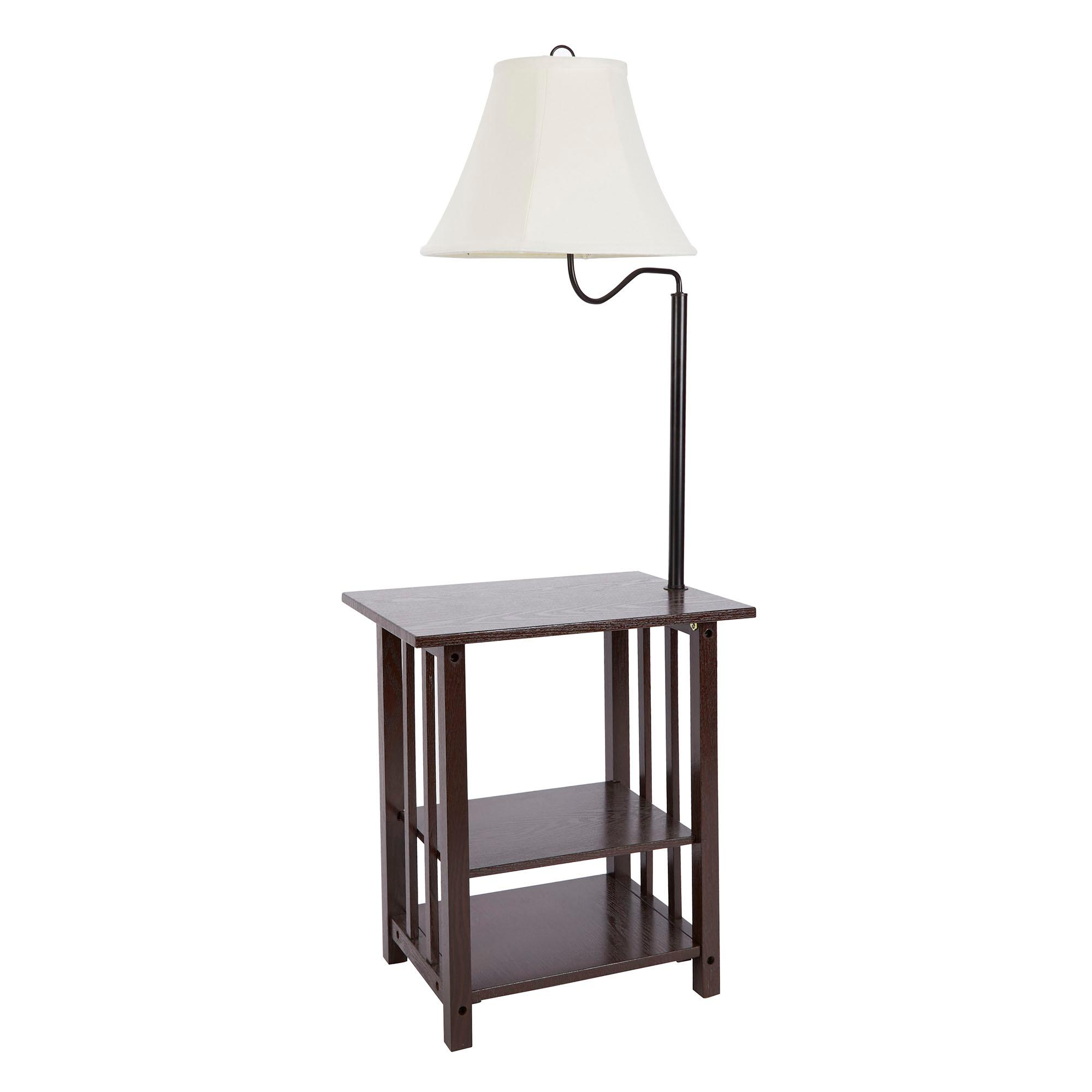 End Table With Lamp Built In Better Homes And Gardens 3 Rack End Table Floor Lamp Cfl Bulb Included