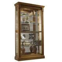 Pulaski Estate Oak Curio Cabinet - Walmart.com